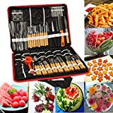 Bluelover 80pcs Portable fruits légumes aliments Chef Burin sculpture buriner la trousse à outilsavec sac