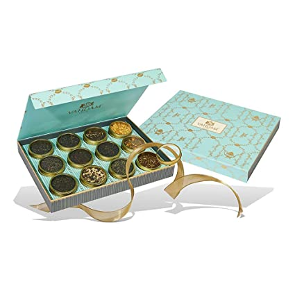 Assorted Tea Gift Set 3 Teas in a Presentation Tea Sampler Gift Box VAHDAM