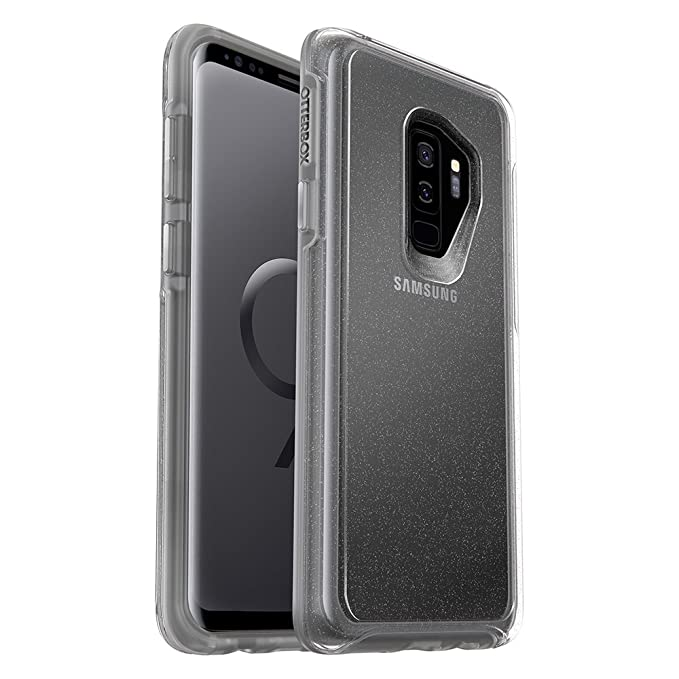 on sale 291b9 ef664 OtterBox SYMMETRY CLEAR SERIES Case for Samsung Galaxy S9+ - Frustration  Free Packaging - STARDUST (SILVER FLAKE/CLEAR)