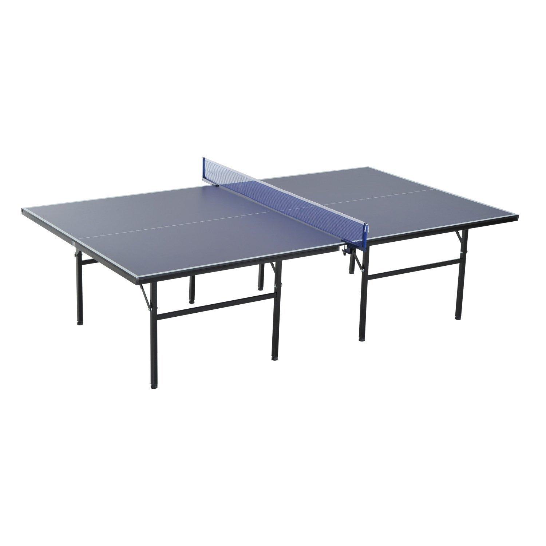 homcom Tavolo da Ping Pong Indoor Pieghevole in Legno MDF e Acciaio, 152.5 x 274 x 76cm