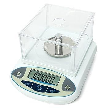 CGOLDENWALL - Báscula electrónica de precisión digital de laboratorio de 1 mg, 100 x 0,001 g, con 100 g de pesas: Amazon.es: Oficina y papelería