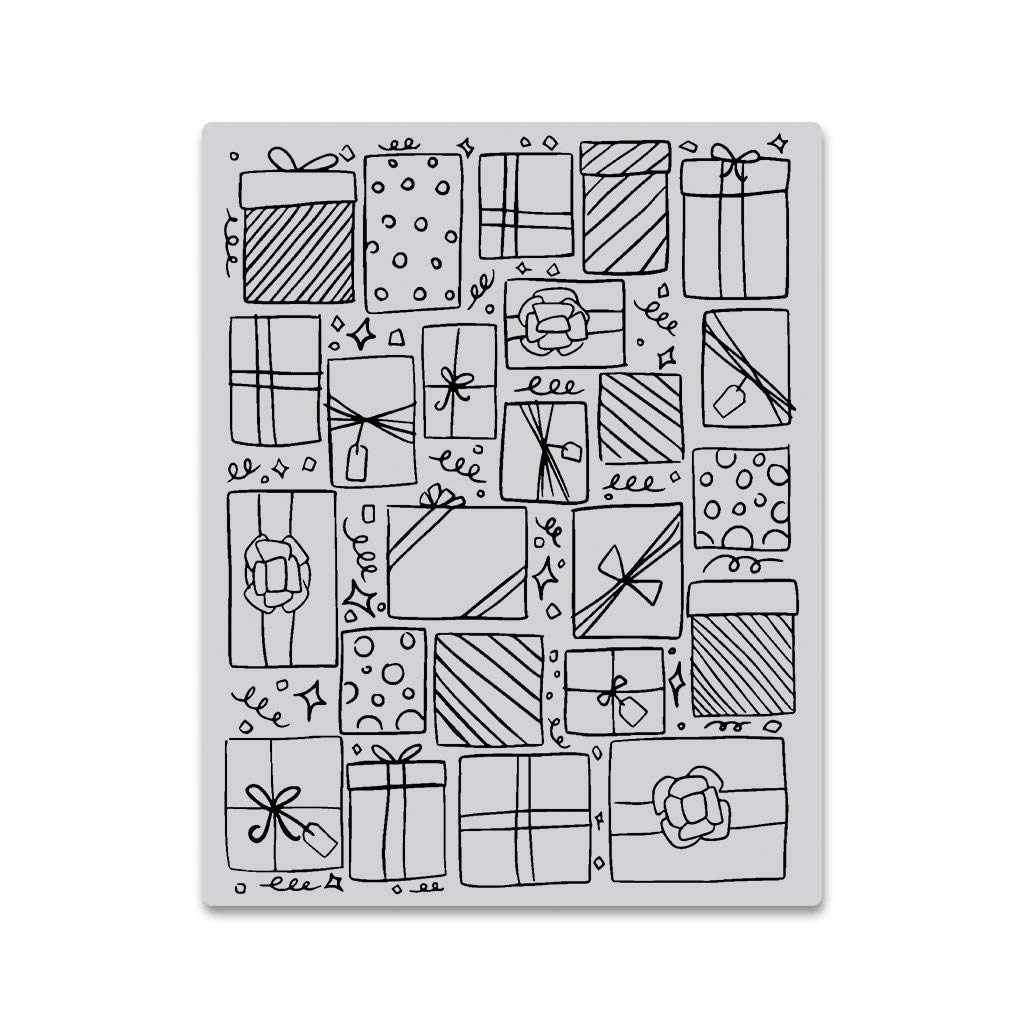 4.25 x 5.5 Hero Arts CG754 Cling Stamps Presents Background