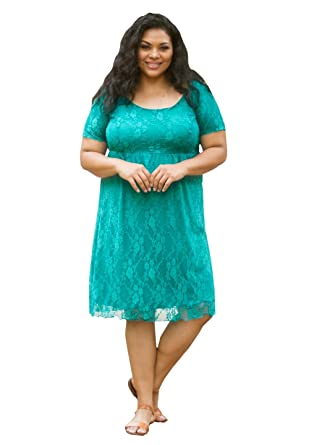 1e446644ff9d37 Sealed with A Kiss Designs Womens Plus Size Short Sleeve Cocktail Kara Lace  Dress - 1X