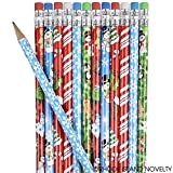 Rhode Island Novelty Lot of 144 Assorted Christmas Holiday Theme Wooden Pencils - 7.5""