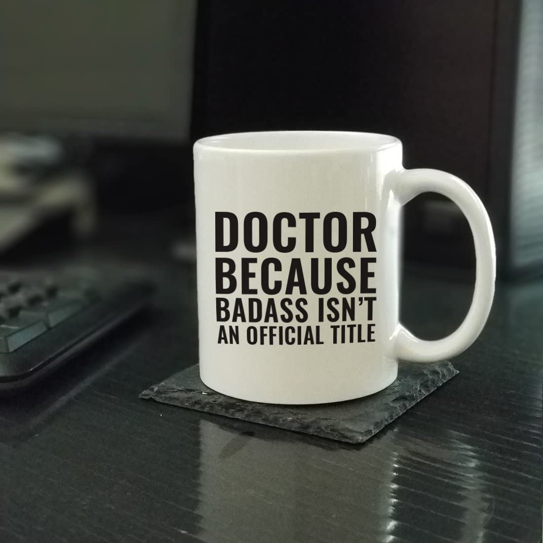 11oz. Coffee Mug Gag Gift, Doctor Because Badass Isn't an Official Title, 1-Pack, Funny Witty Coffee Cup Birthday Christmas Present Ideas Coffee Mug