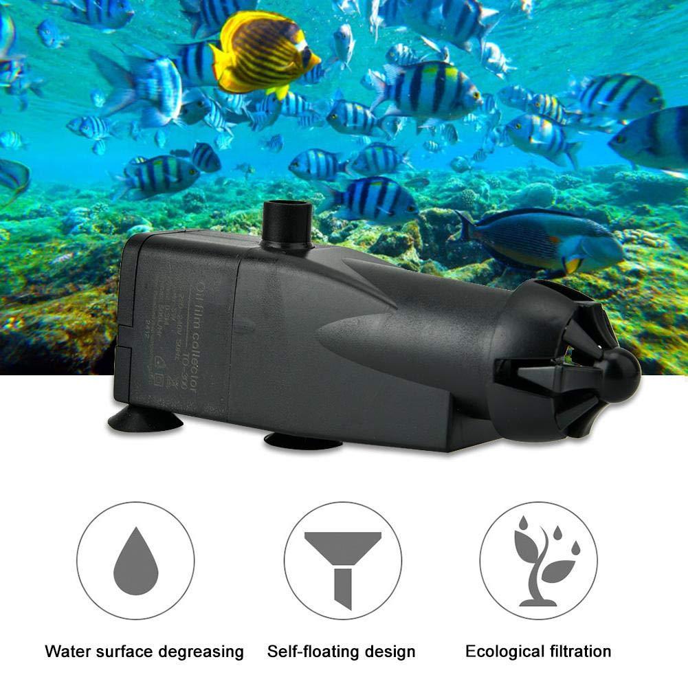 Pssopp Skimmer de Superficie de Acuario Tanque de Pescado Prote/ína Skimmer de Aceite Aceite de Superficie de Acuario Skimmer Filtro Mini Auto Fish Tank Quitar Aceite pel/ícula Herramienta