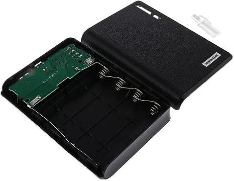 Magideal batería Externa Power Bank 18650 Cargador de batería Caja con 2 USB para iPhone X