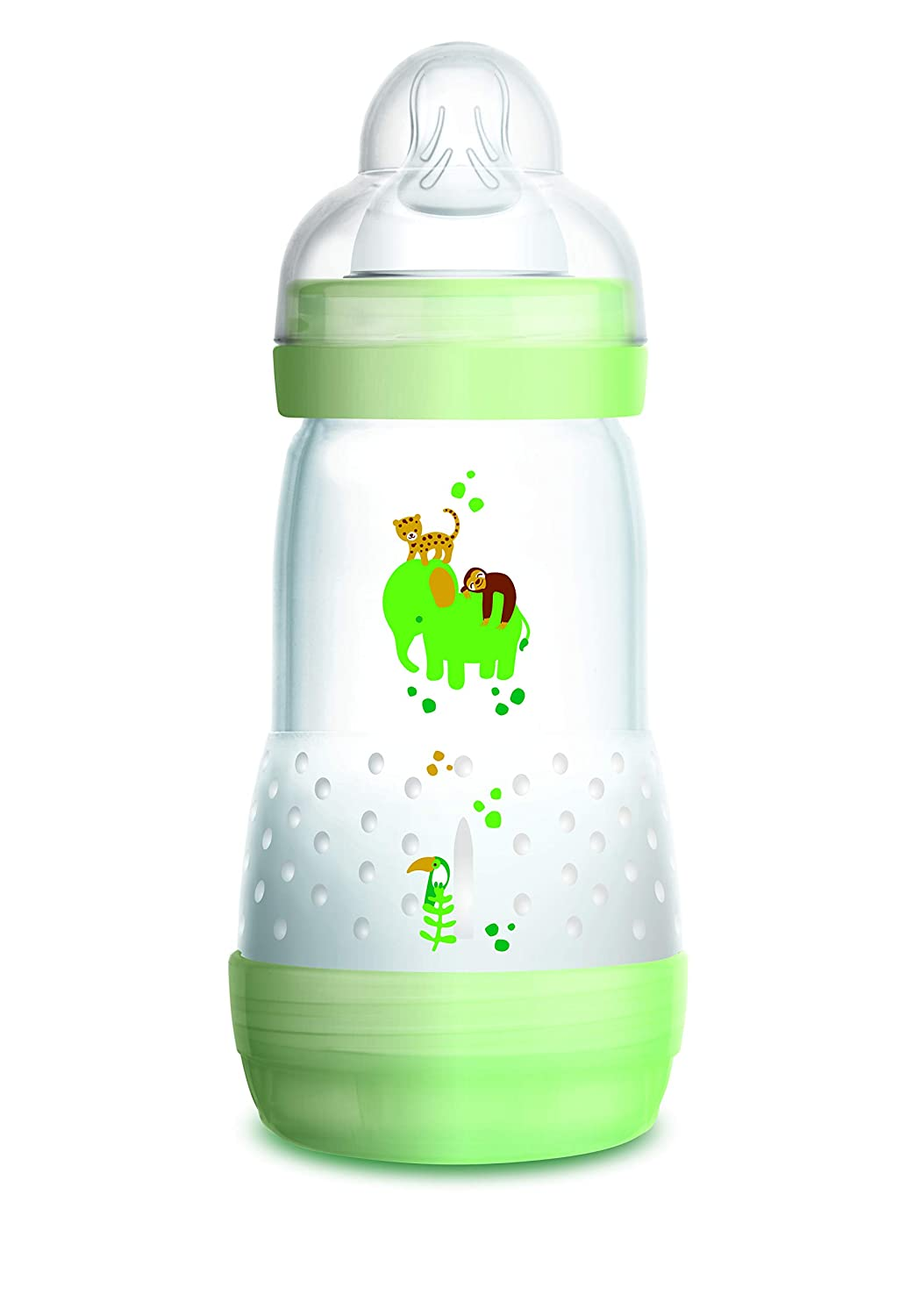 Green or Blue Blue Pack of 1 Choice of Pink MAM Anti-Colic Bottles 260ml