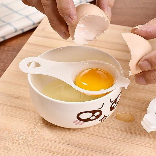 juego de 2 herramientas con 1 separador de huevos y 3 piezas de esp/átulas para tartas antiadherente azul y morado Sonku Molde redondo para hornear de silicona 8 pulgadas y 6 pulgadas