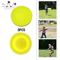 Sinwind Frisbee, 3 Stück Mini Frisbee 2019 Neueste Chippy Frisbee, Mini Flying Disc Soft Eva Spielzeug Eltern Kind Zeit , Perfekter Spaß für Erwachsene, Kinder, Sport, Spiele & Outdoor