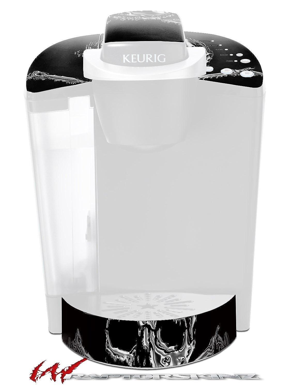 クロムスカルonブラック – デカールスタイルビニールスキンFits Keurig k40 Eliteコーヒーメーカー( Keurig Not Included )   B0181D8FTA