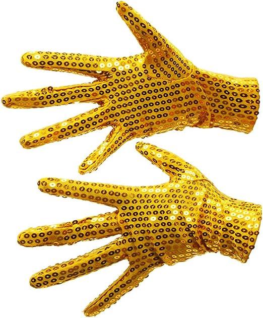 Eleganantamazing Shimmer - Guantes de Disfraz de Lentejuelas para ...