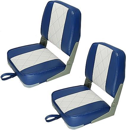 Wise Low Back Fold Down White Bass Fishing//Hunting Jon Boat Folding Seat