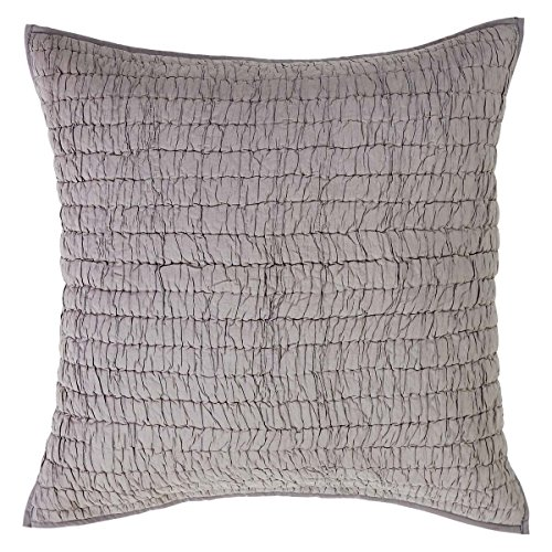 VHC Brands Rochelle Grey Quilted Euro Sham 26x26 Contemporary Euro Pillow Sham