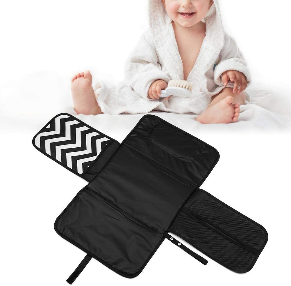Portable Thicker Waterproof Diaper Change Mat Free Multi-Function Storage Bag for Travel Home Baby Changing Mat Gray