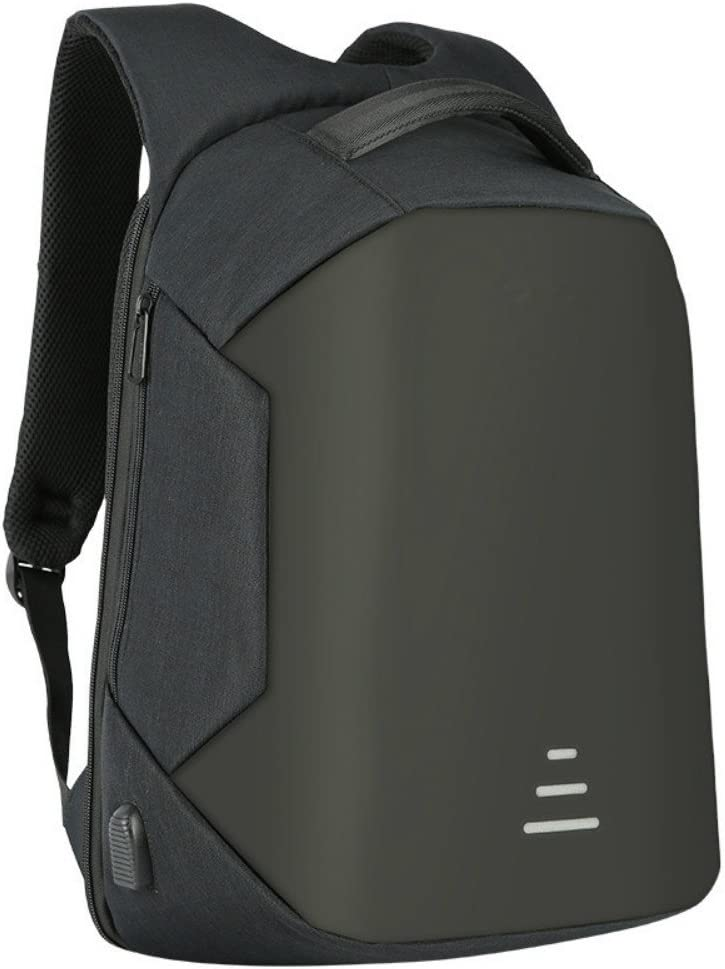HS Magnet Anti Theft Business Laptop Backpack with USB Charging Port Headphone Port,Slim Travel Backpack Fits to 15.6 Inch Computer,Black