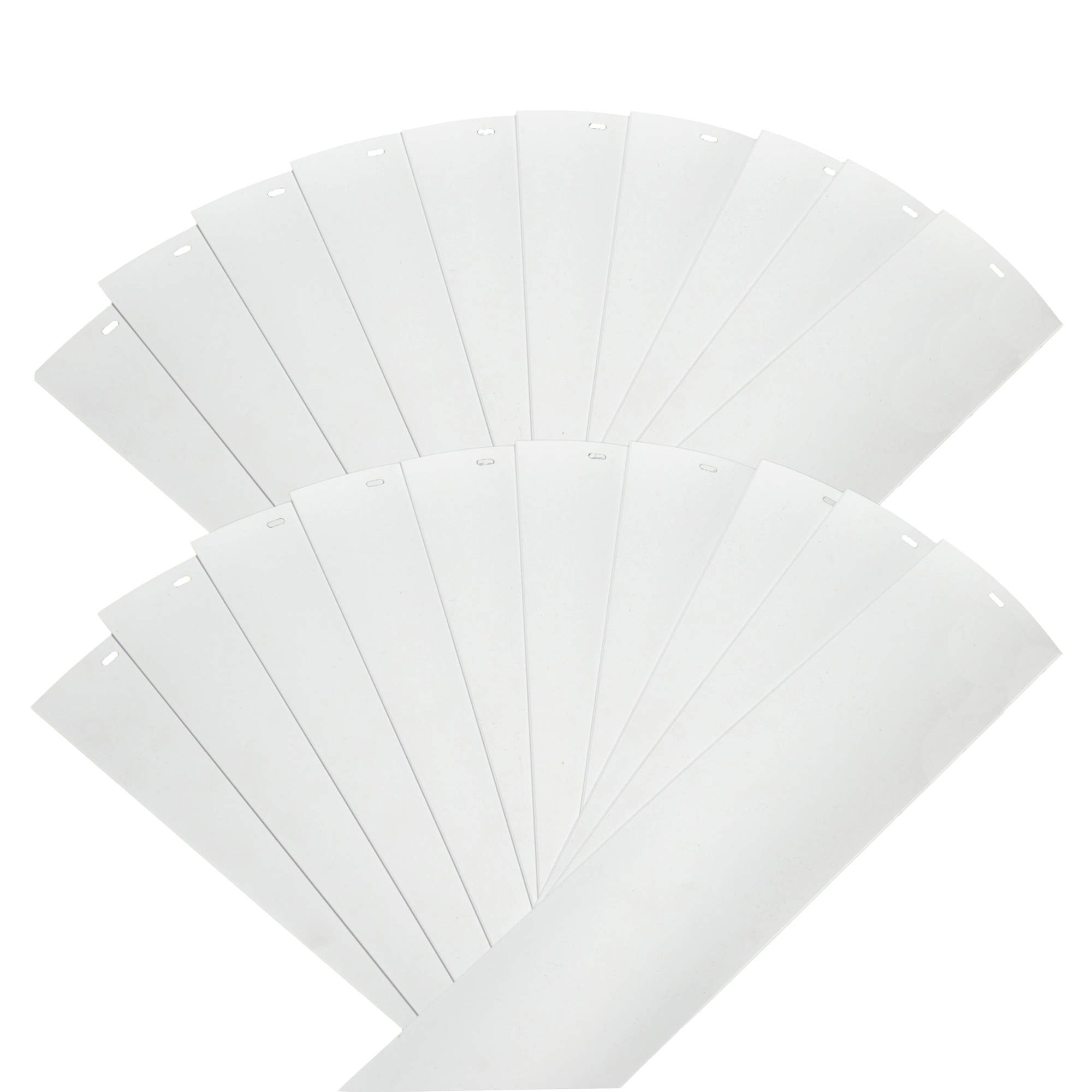 DALIX PVC Veritcal Blind Replacement Slats Curved Smooth White 94.5 x 3.5 (20-Pack) by DALIX