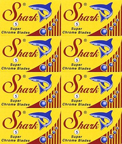 Edge Chrome Double Super (40 Shark Super Chrome Double Edge Razor Blades)