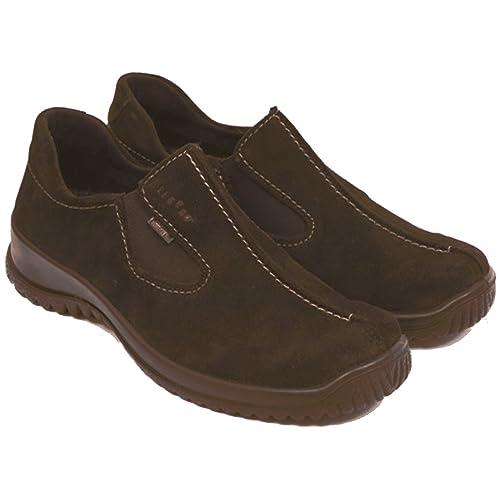 Legero - Mocasines de Piel para Mujer marrón Olive 37 marrón Size: 7: Amazon.es: Zapatos y complementos