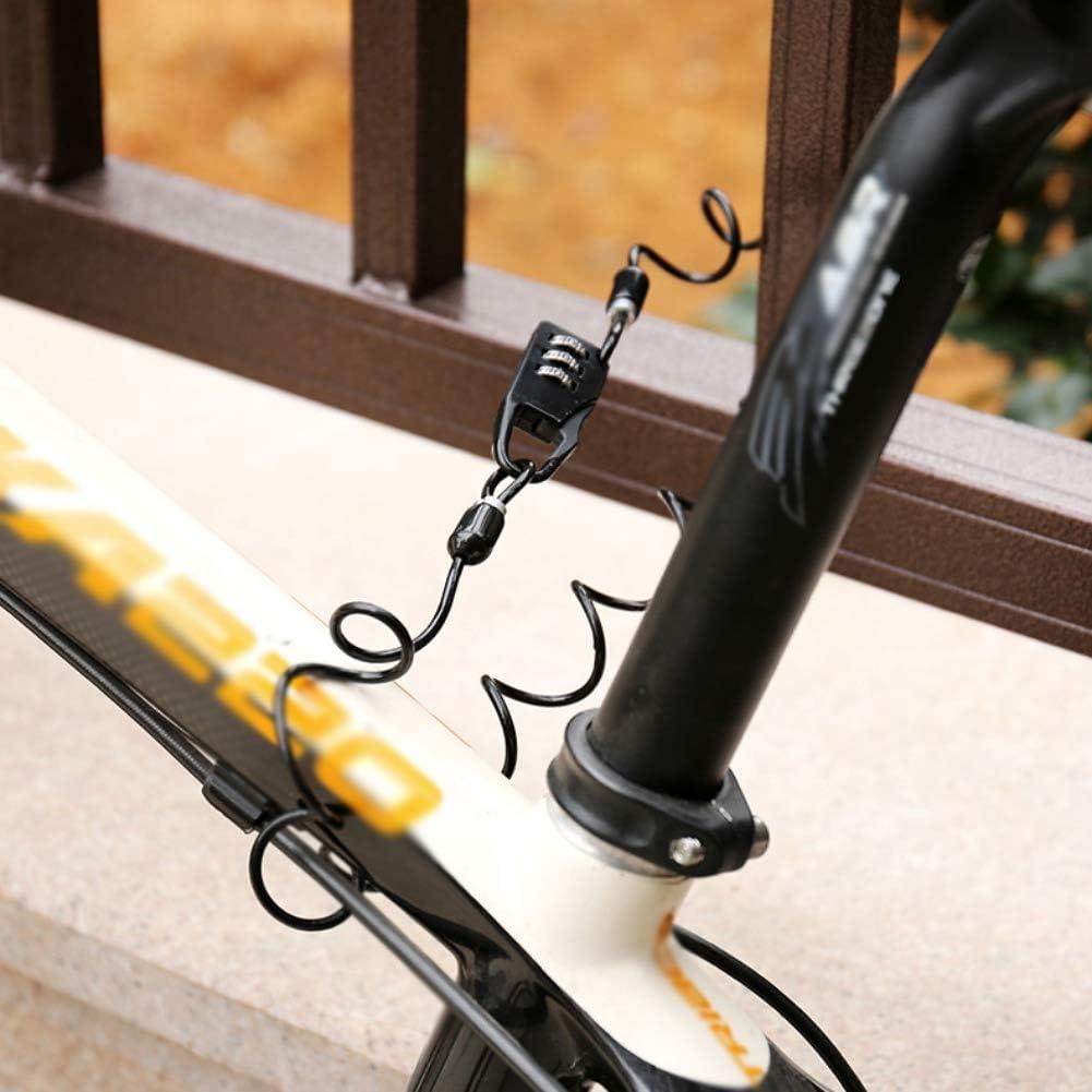 Mini candado de Bicicleta CheerlueY Port/átil antirrobo reiniciable de 3 d/ígitos Cerradura de Bicicleta Negra