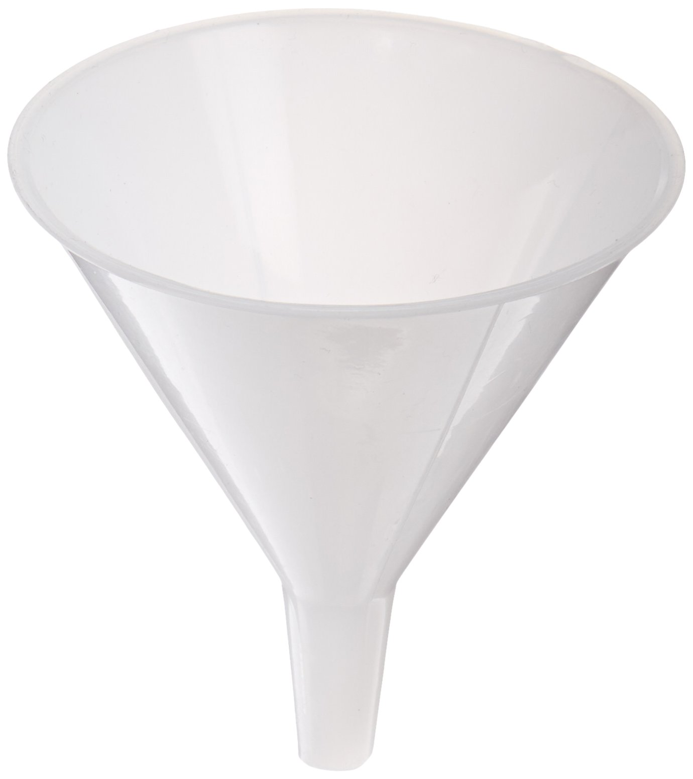 United Scientific FHD185 High Density Polyethylene Clear Short Stem Funnels, 85ml Capacity (Pack of 12)