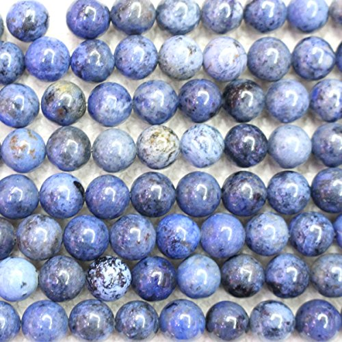 Natural Blue Dumortierite Round Jewerlry Making Gemstone Loose Beads (8mm) Blue Stone Beads