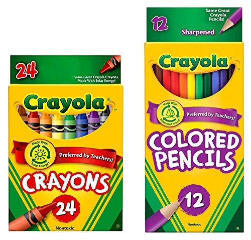 Crayola Classic Bundle: 2 Items - Crayons , Colored Pencils