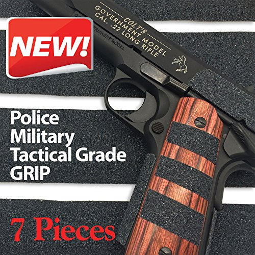 Pistol-Gun-Grip-Tape-Tactical-Police-Military-Grade-for-Guns-Knives-Tools-Phones-Cameras-Anything-7-Pieces-85-x-2-Massive-stick-grip-Best-Non-Slip-Solution-Red-Cat-Brand