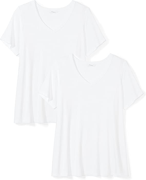 Pack de 2 Daily Ritual Jersey Long-Sleeve V-Neck T-Shirt Mujer