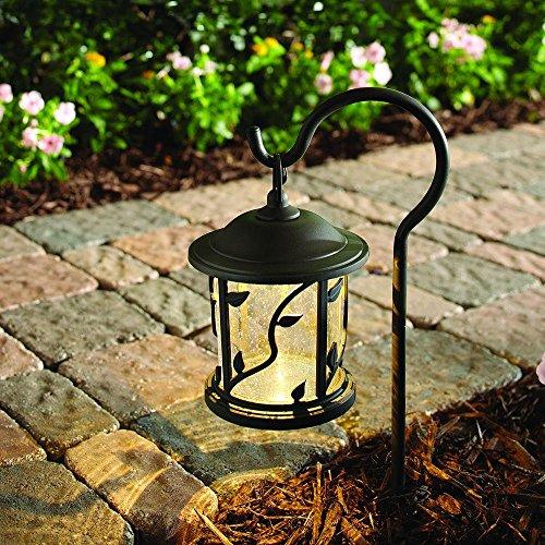 Hampton Bay Floral Shepherd Hook Low-Voltage Bronze Outdoor Integrated LED Path Light
