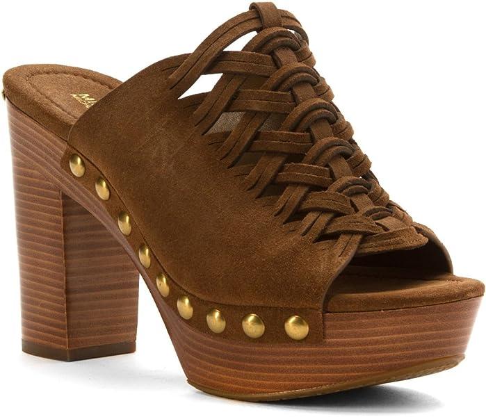 67fc201e487a Michael Michael Kors Womens Westley Mule Leather Open Toe Mules