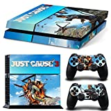 GOOOD PS4 Designer Skin Decal for PlayStation 4 Console System and PS4 Wireless Dualshock Controller - Just Cause 3