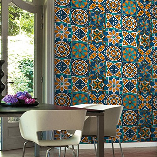 25pc Roll Tile Stickers Self Adhesive Tile Art Wall Decal