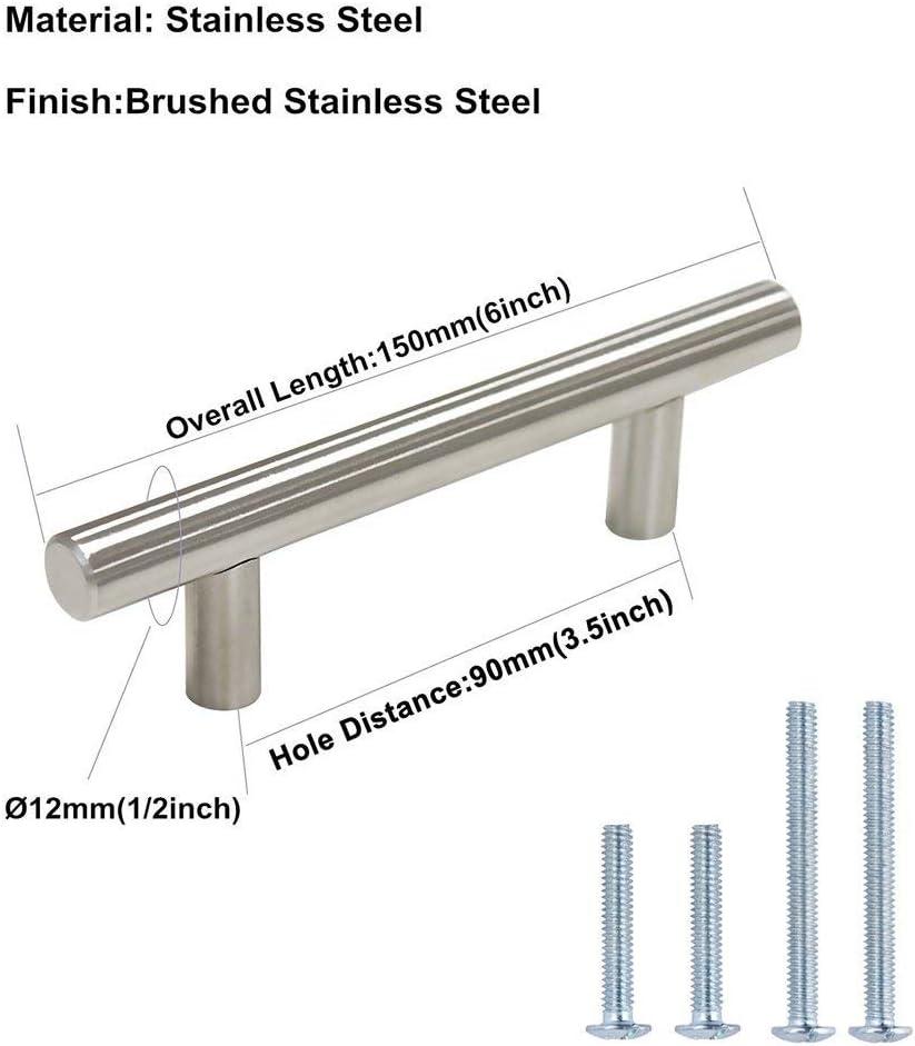 90mm Kitchen Door Handles Cupboard Handles Silver 15Pack LS201BSS LONTAN Bar Handles Wardrobe Handles Stainless Steel