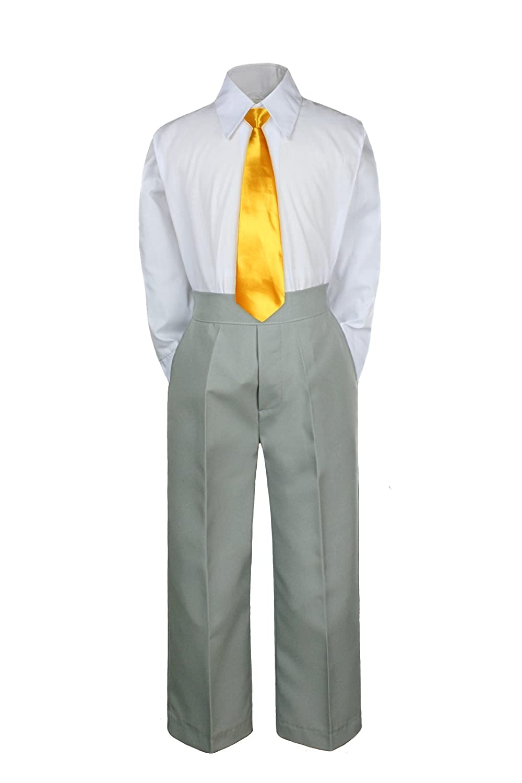3PC Shirt Gray Pants Nectie Set Baby Boy Toddler Kid Formal Suit Sm-229