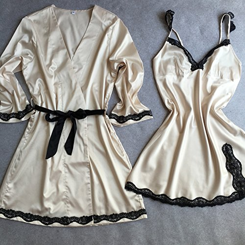 MH-RITA Silk Pajamas Silk Silk Lace Summer Female Korean Lady Nightdress Two Piece Skirt