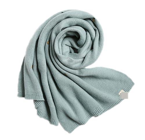 OGTOP Inverno Donna Sciarpa Scialle Calore Spessore Duplex Sezione Lunga Moda Sciarpe,LightBlue-OneSize