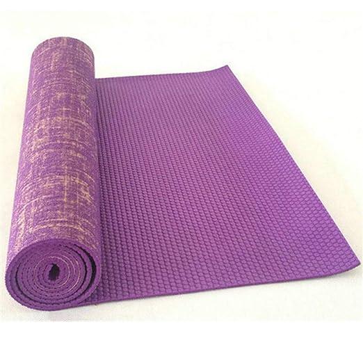 Alfombrilla de yoga de yute antideslizante Pvc Esterilla de ...