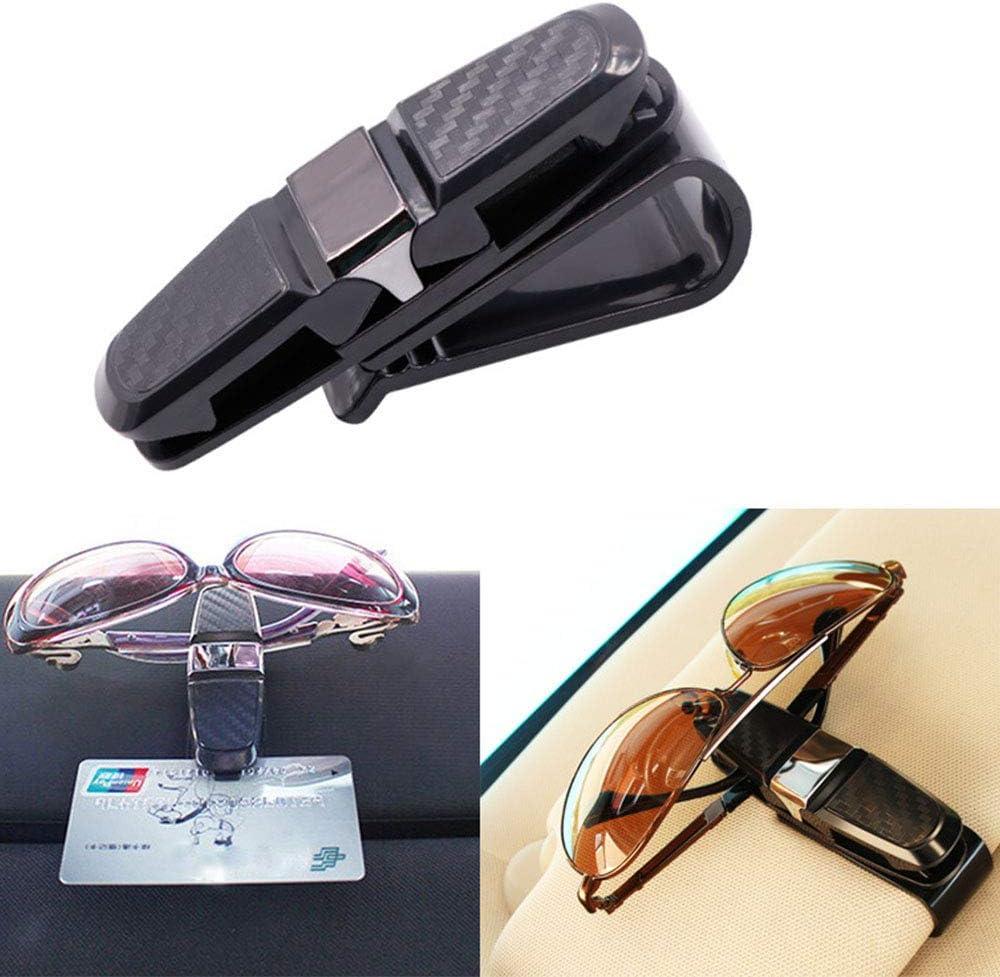 2 unidades de gafas de sol para coche plata y gris soporte para tarjetas None clip para parasol de coche