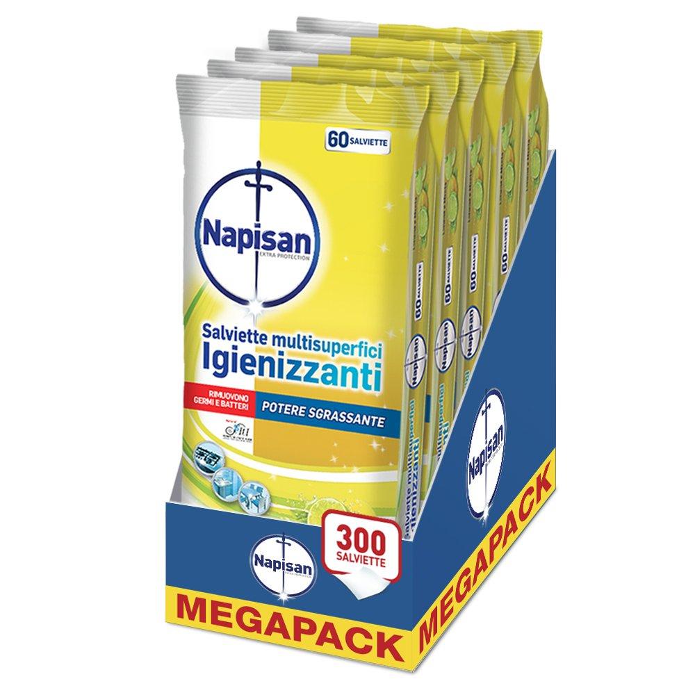 Napisan Toallitas igienizzanti sgrassanti - 5 paquetes: Amazon.es: Salud y cuidado personal