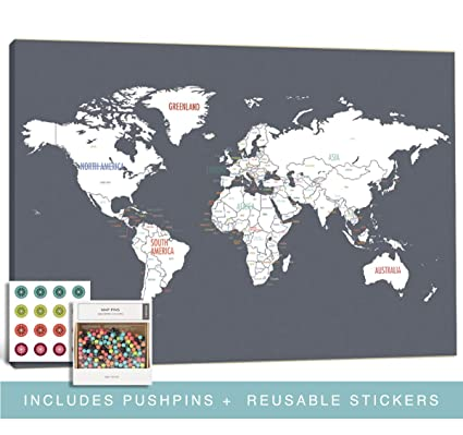 amazon com kindred sol collective push pin world travel maps