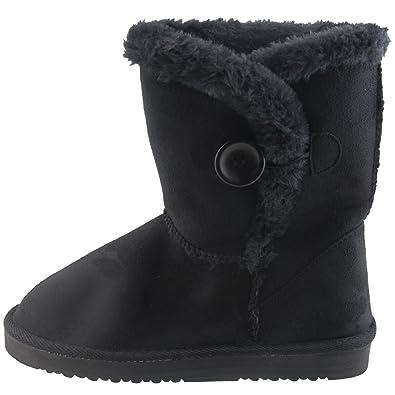 Süße Damen Winter Schnee Stiefelette Bootie warm gefüttert Damenschuhe Braun, Grau, Schwarz, Camel V1558 (39, Schwarz)