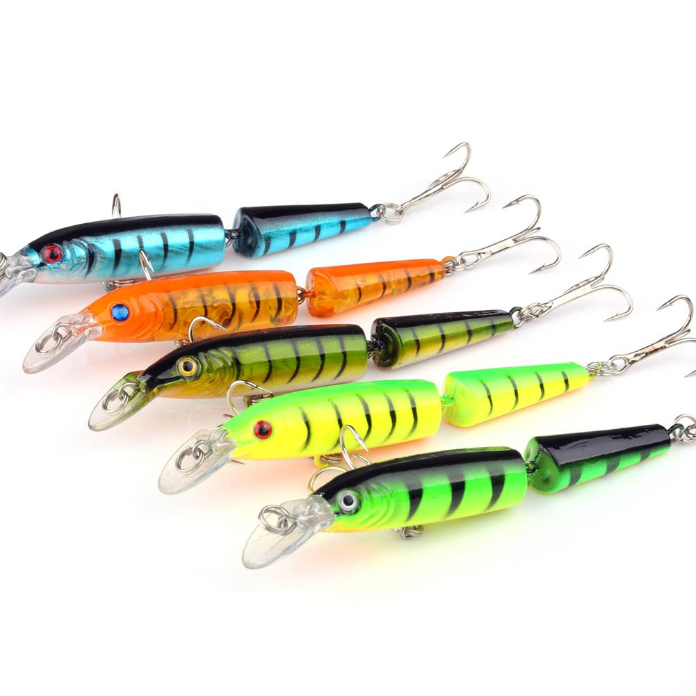 VERY100 Lot5Pcs Crankbait Crankbait Fishing Baits Lures Minnow Hooks 9.6g 10.5cm / 4.13\