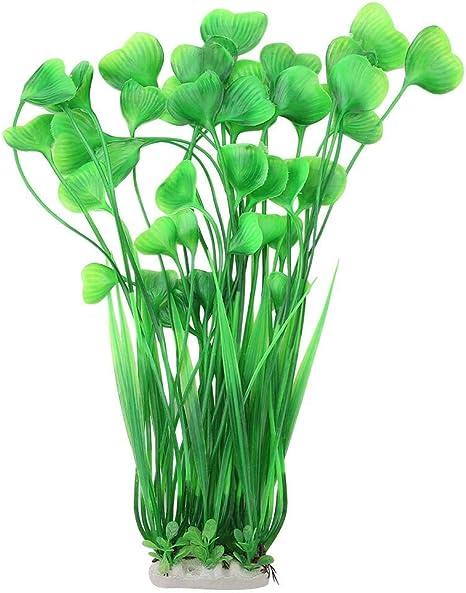 Acuario De Plástico peces tanque decoración floral Agua Verde planta de pasto de seguro para peces