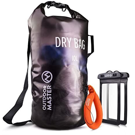 Lightweight Dry Sack with 2 x Free Waterproof Cell Phone Cases Swimming Fishing Rafting Kayaking Boating for The Beach OutdoorMaster Dry Bag OPAK Waterproof