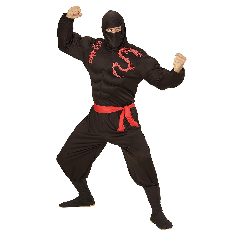 WIDMANN Disfraz de Ninja musculoso para Hombre - L: Amazon ...