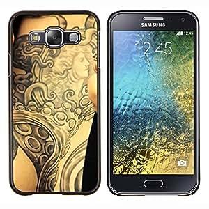 LECELL--Funda protectora / Cubierta / Piel For Samsung Galaxy E5 E500 -- Tinta del tatuaje del arte de cuerpo de la diosa antigua Brazo --