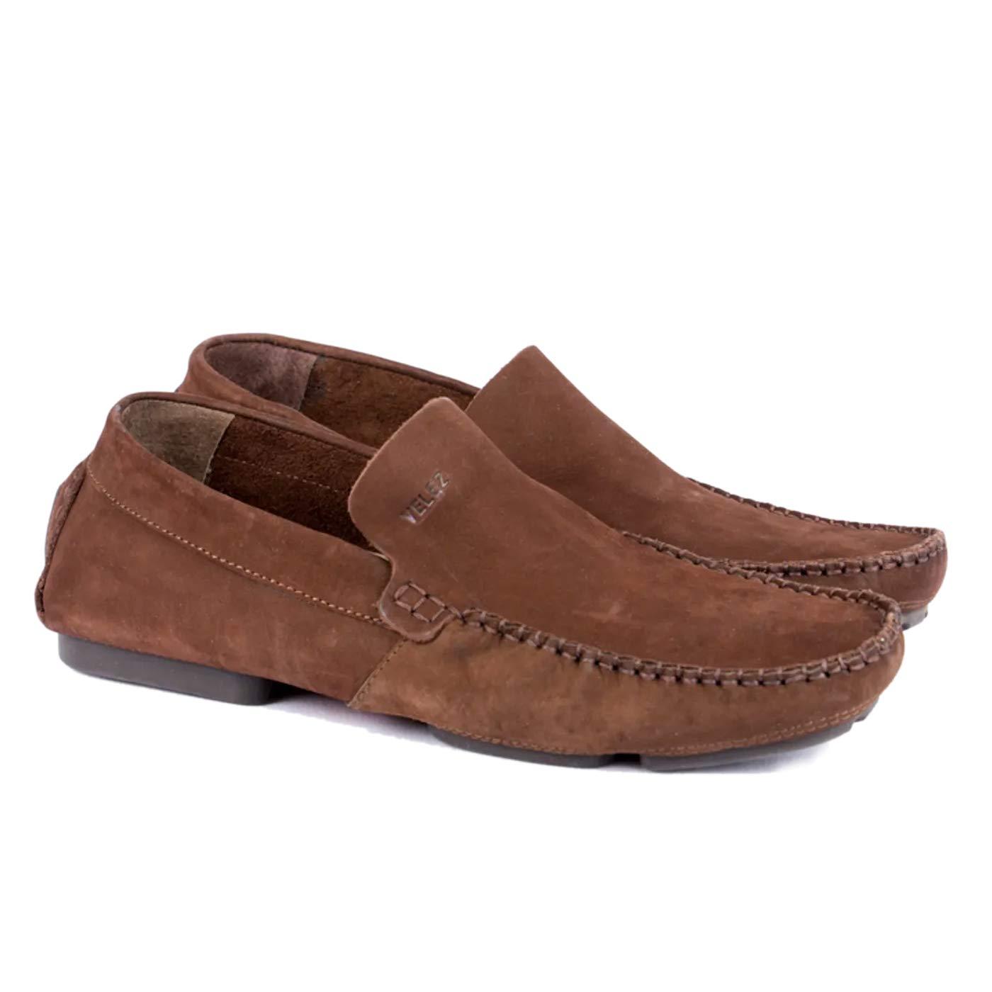 VELEZ Mens Leather Loafers Slip on Shoes | Mocasines de Cuero para Hombres