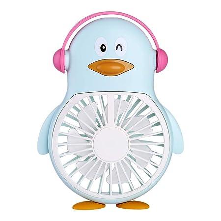 CAOQAO - Mini pingüino con Cable portátil silencioso, Ventilador ...