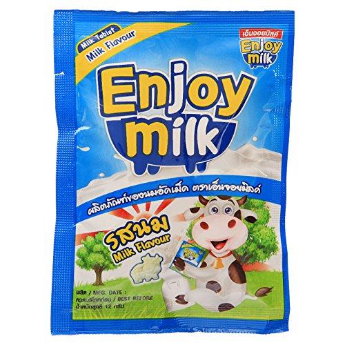 Enjoy Milk, Milk Tablet, Milk Flavour, net weight 12 g (Pack of 12 pieces) / Beststore by KK8